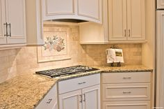white painted cabinetry