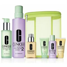 Clinique 3 Step 1&2: Great Skin Care Routine for Skin Types! Oily , Dry , Very Dry , Oily Combination!