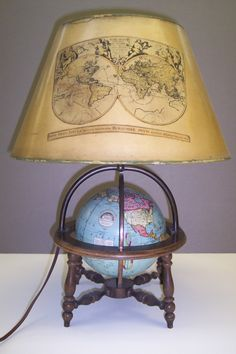 Peerless 6 inch globe. Terrestrial globe , Attractive Full Mount Six Inch Globe Lamp, Globe Maker: Weber Costello Co.; Cartographer: Weber Costello Co. (Published: Weber Costello Co.  1930 Chicago Heights, Ill.)