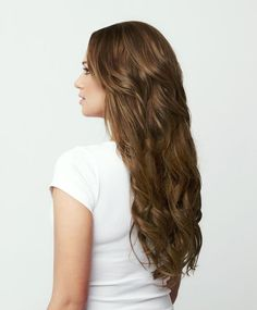 Luxy Hair Clip-In Hair Extensions Chestnut   Color 6   120 grams: