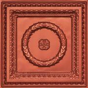 Laurel Wreath - Faux Tin Ceiling Tile - Copper #210