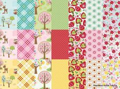 Hoos in the Forest White Trees by Doohikey by HeartandHomeFabrics, $5.00