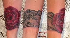 Resultado de imagen para tatouage jarretière rose