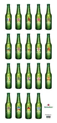 Pour l'arrivée des beaux jours en Europe, Heineken nous dévoile un nouveau packaging pour ses bouteilles à l'effigie de 21 pays (dont 2 hors Europe). Depuis le 1er mai, la célèbre marqu…