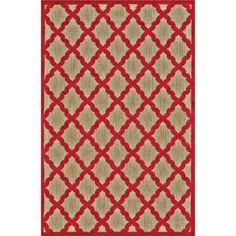 Feizy Raphia I Tan/Red 7 ft. 6 in. x 10 ft. 6 in. Indoor/Outdoor Area Rug - 6063292FTANREDG25 - The Home Depot