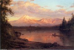 View of Mount Katahdin, oil on canvas, by Frederic Edwin Church 1826.