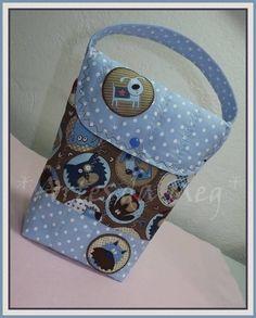 Porta fraldas feito com tecidos 100% algodão nacionais e importados. Ideal para levar na bolsa.