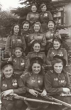 775 confirmed kills in one photo. Female snipers squad of Soviet Army.