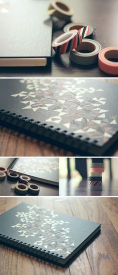 DIY: washi tape sketchbook cover
