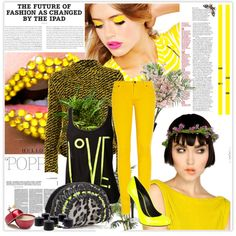 """go crazy with yellow"" by kchems on Polyvore"