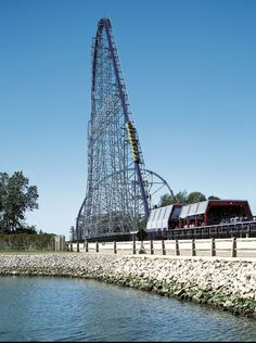 Riders climb the steep, 310-foot hill on Millennium Force, a roller coaster so tall it created a new category: The Giga coaster, or the first to top 300 feet.