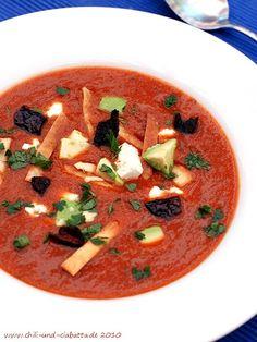 Mexikanische Tortilla-Suppe