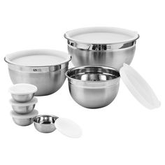 Whip up mouth-watering meals or decadent desserts with this charming mixing bowl set, featuring convenient lids for storing your culinary creations....