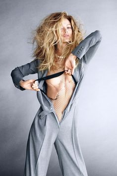 Carolyn Murphy as one of Carine Roitfeld's 19 icons for BAZAAR's September issue. See the full shoot here.