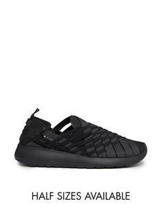 747a011f891f Nike Woven Roshe Run Black Slip On Trainers