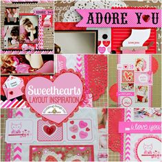 Sweethearts Collection: Layouts by Aimee and Candace