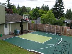 Half basketball court can add on concrete and paint in for How to build a half court basketball court