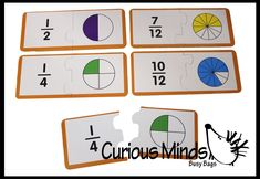 Teaching Activity Curious Minds Busy Bags Fractions Puzzle Early Childhood Teacher Supply