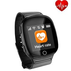 New Elderly Heart rate monitor Smart Watch fall-down alarm function GPS LBS WIFI Tracker for Apple iPhone Android phone Best Smart Watches, Wearable Device, Heart Rate Monitor, Falling Down, Wifi, Android, Apple Iphone, Electronics, Amazon