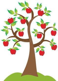 Illustration of branch, forest - 15010001 Apple Tree. A beautiful apple tree in full bloom and blowing in the fall season , Apple Tree Drawing, Tree Illustration, Illustrations, All About Me Crafts, Reading Tree, Graphic Design Brochure, School Murals, Diy Crafts To Do, Baby Sewing Projects