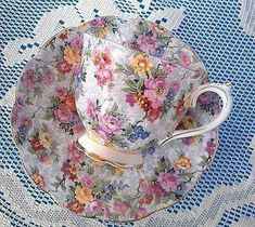 ROYAL ALBERT TEA CUP AND SAUCER BOTANICAL TEAS PATTERN TEACUP PRIMROSE.