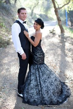 Black #wedding #dress I'd have it made with nude material and black lace.
