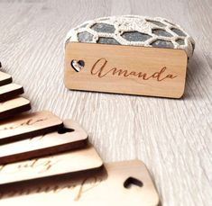 Personalized Wood Place Tags