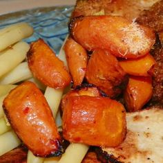 Roasted Carrots in Italian Dressing