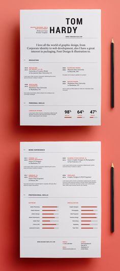 Simple Resume Template vol 12 – Graphic design - Lebenslauf Creative Cv Template, Simple Resume Template, Teacher Resume Template, Resume Design Template, Resume Template Free, Creative Resume Design, Graphic Design Templates, Design Social, Web Design