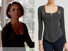 The Vampire Diaries: Season 7 Episode 2  Bonnie's Black Lace Henley