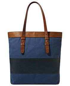 Stay chic on the beach with a striped tote. FOSSIL Bag. BUY NOW!