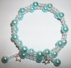 Chunky Stars Turquoise Blue Glass Pearl by ElizabettaJewellery