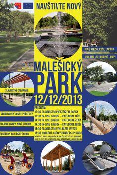 Vizuál k otevření zrekostruovaného Malešického Parku