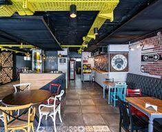 Burger Sound by Kst Architecture & Interiors, Antalya – Turkey Restaurant Layout, Restaurant Design, Restaurant Bar, Restaurant Interiors, Interior Architecture, Interior Design, Design Furniture, Commercial Design, Antalya