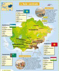 L'Asie centrale - Mon Quotidien, le seul site d'information quotidienne pour les 10-14 ans !