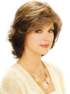 Medium Length- layered Hairstyles for Round Faces