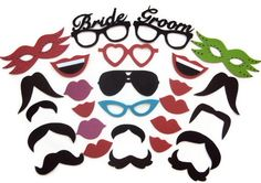 Photo booth props / Wedding photo booth prop / Bride and Groom photo booth prop / Photobooth props. http://www.etsy.com/shop/FoamyFactory