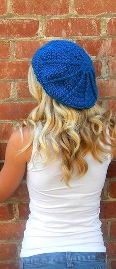 Ribbed Slouch Beret Pattern-Permission to sell finished items.Immediate PDF file download.