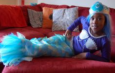 I made this DIY mermaid costume for my daughter for this Halloween, and she loves it!