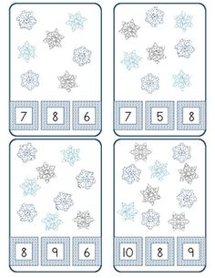 Print, cut, and laminate cards. Use with clothespins. Children pin the clothespin on the number that matches the number of candy hearts on the card.  16 cards with sets from 3-10