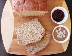 100% Whole Grain Bread (8-Grain Whole Wheat Bread Recipe) - no white flours, no refined sugars, just dairy-free wholesome goodness. And yes, it is fluffy!