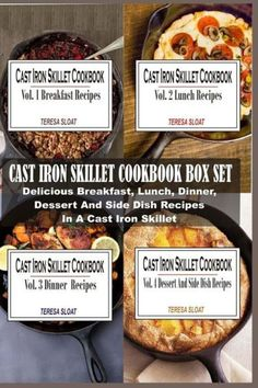 Cast Iron Skillet Cookbook Box Set: Delicious Breakfast, Lunch, Dinner, Dessert And Side Dish Recipe