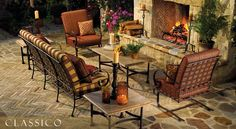 Fav outdoor furniture - heavy, weather worthy and lots of great fabric choices.