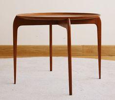 Engholm Willumsen Fritz Hansen Teak Tray Table Danish Mid Century Modern 1950s | eBay