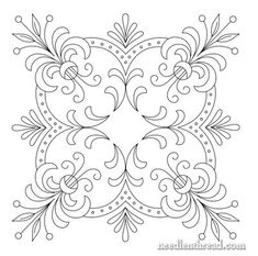 Free Printable Vintage Embroidery Patterns | Free Hand Embroidery Pattern: Perfect Pillow Top – Needle'nThread ...