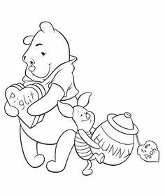 Kleurplaat winnie de pooh 13