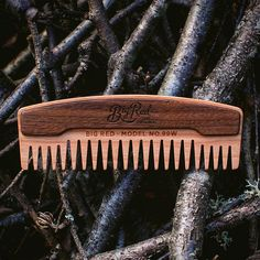 This is my favourite comb for applying beard oil in the morning. The wide tooth pattern is gentle on the bigger beards while doing a great job of spreading the oil through the beard. Now back in stock. #bigredbeardcombs #beardcomb #pocketcomb #comb #beardcare #barber #barberlife #menshair #menstyle #mensstyle #gentleman #facialhair #hair #haircomb #beardstagram #beard #bearded #beardedmen #beardstildeath