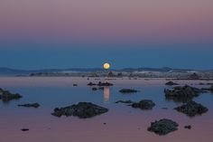 Jeff Sullivan Photography: Full Moon Rise at Mono Lake in January