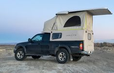Move over Sprinter Van, there's a new adventure-mobile in town. The Leentu pop-up camper will transform your truck into a road trip machine. Truck Bed Camping, Truck Tent, Camping World, Auto Camping, Rv Truck, Camping Ideas, Tent Camping, Glamping, Pickup Camper