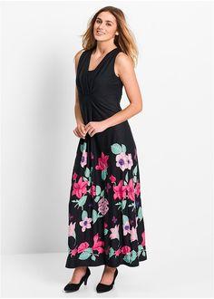 281c83aad36e Μακρύ φόρεμα φλοράλ Μαύρο φλοράλ bpc bonprix collection